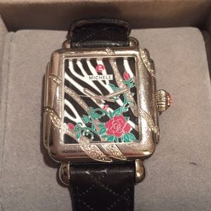 Michele Watch Animal print, Roses and diamonds